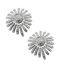 Jill Zarin Clear Crystal Pave Starburst Stud Earrings