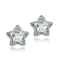 Jill Zarin Cubic Zirconia Star Stud Earrings