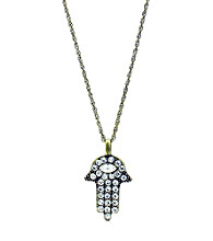 Jill Zarin Crystal Hamsa Pendant Necklace