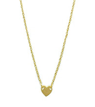 Jill Zarin Metal Heart Pendant Necklace with 14K Gold Plating