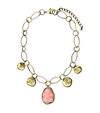 Jill Zarin Hamptons Collection Stone Drop with Coins Necklace