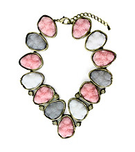 Jill Zarin Hamptons Large Rock Statement Collar Necklace