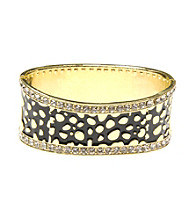 L&J Accessories Jet Enamel Crystal Inlay Bangle
