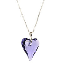 L&J Accessories Swarovski® Tanzanite Purple Heart Pendant
