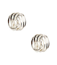 Napier® Silvertone Clip Button Earrings