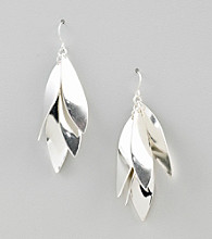 Relativity® Silvertone Linear Shaky Earrings