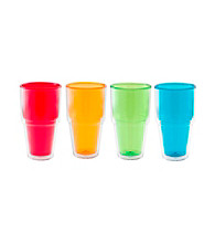 Zak Designs® Print Double Walled 20-oz. Set of 4 Juice Tumbler