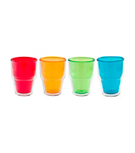 Zak Designs® Print Double Walled 14-oz. Set of 4 Juice Tumbler