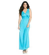 Relativity® Solid Empire Braided Maxi Dress