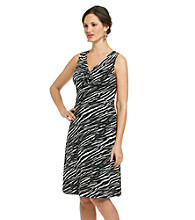 Relativity® Career Cinch Front Printed Dress