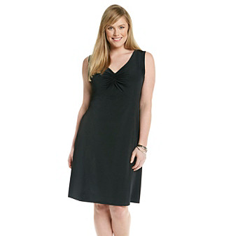 Relativity Career Plus Size Cinch Front Solid Dress Women's