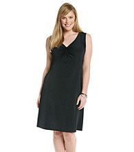 Relativity® Career Plus Size Cinch Front Solid Dress