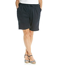 Breckenridge® Plus Size Drawstring Twill Short
