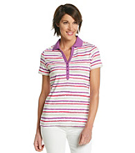 Studio Works® Petites' Striped Polo