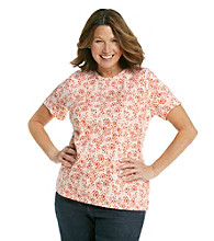 Studio Works® Plus Size Printed Crew