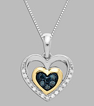 .16 ct. t.w. Diamond Heart Pendant