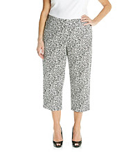 Studio Works® Plus Size Printed Cropped Pant