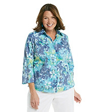 Studio Works® Plus Size Watercolor Woven Shirt