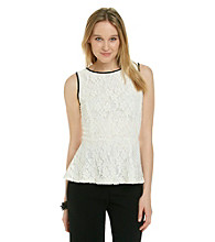 NY Collection All Over Lace Knit Top