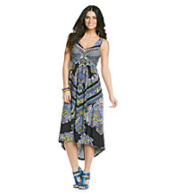 Oneworld® Strapped Hi-Lo Maxi Dress