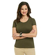 Jones New York Sport® Solid Scoop Neck Tee