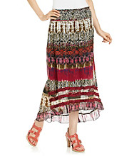 Chaudry® Fuchsia Multi High-Low Skirt