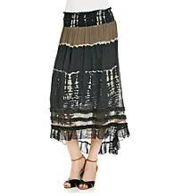 Chaudry® Black Multi Hi-Low Skirt