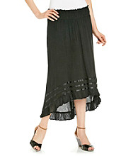 Chaudry® Black High-Low Skirt