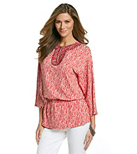 Jones New York Signature® Coral Combo Print Tunic