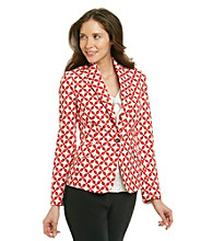 Jones New York Signature® Coral Combo Jacquard Blazer