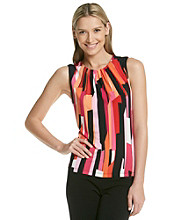 Calvin Klein Print Pleat Neck Cami