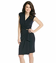 MICHAEL Michael Kors® Navy Faux Wrap Dress