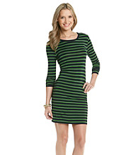 MICHAEL Michael Kors® Fuji Stripe Long Sleeve Dress