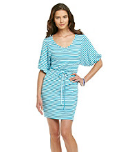 Calvin Klein Striped Scoopneck Dress