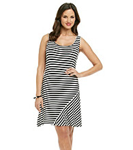 Calvin Klein Striped Contrast Hem Dress