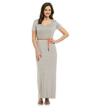 Calvin Klein Skinny Striped Rope Belt Maxi