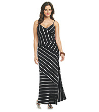 Calvin Klein Spliced Striped Maxi Dress