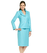 Le Suit® Shawl Collar Jacket with Skirt
