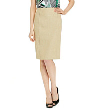 Le Suit® Tweed Straight Skirt