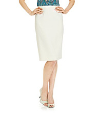 Le Suit® Basic Seersucker Skirt