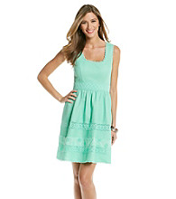 Jessica Simpson Inset Crochet Waist Dress