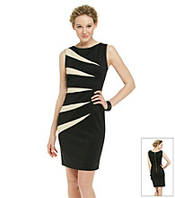 R & M Richards® Spliced Two-Tone Sheath Dress
