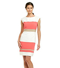 Studio One Colorblock Crepe Dress