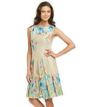 Evan Picone® Collection Floral Print Dress