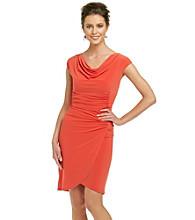 Evan-Picone® Drape-Front Dress