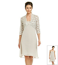 R&M Richards® Sheer Lace Jacket Dress