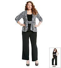Perceptions Plus Size Floral Print Pant Set