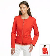 Calvin Klein Petites' Long Sleeve Jacket with Zipper