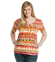 Jones New York Sport® Plus Size Short Sleeve Scoop Neck Tee