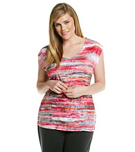 Calvin Klein Performance Plus Size Short Sleeve Sublimation Paintbrush Tee